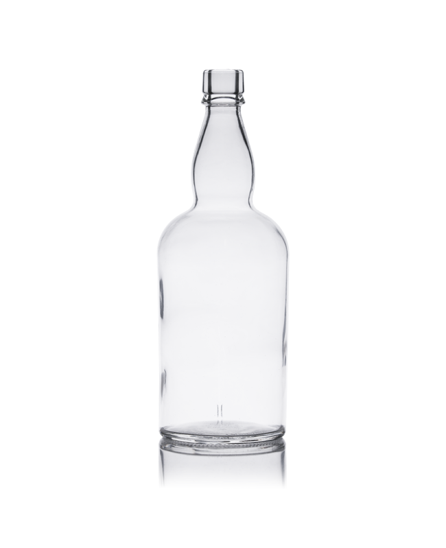700ml Bulbous Whisky Spirit Glass Bottle