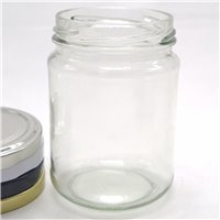250ml Short Round Glass Jar 63mm TO (28 per Pack)