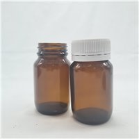 75ml Glass Tablet Jar - Amber (Pack of 60) With Cap