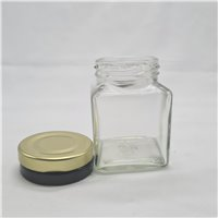 110ml Square Jar with lids (pack of 20) - OUT OF STOCK